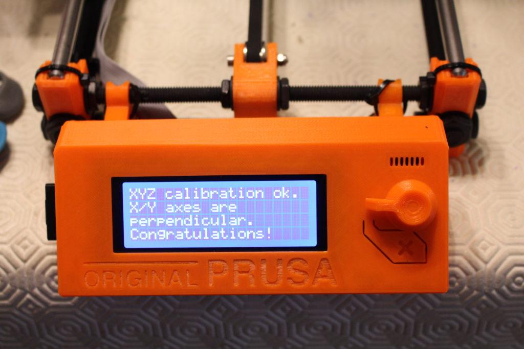 Prusa I3 mk2s calibration ok