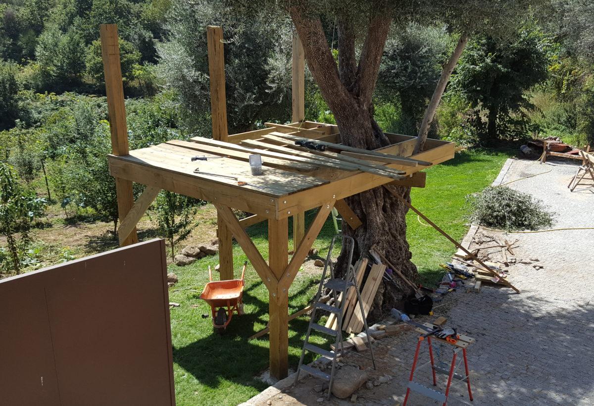 Casa da árvore, plataforma e deck – parte 3